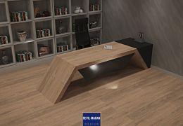 Siyah Mekana Uyarlanabilir Ofis Masası